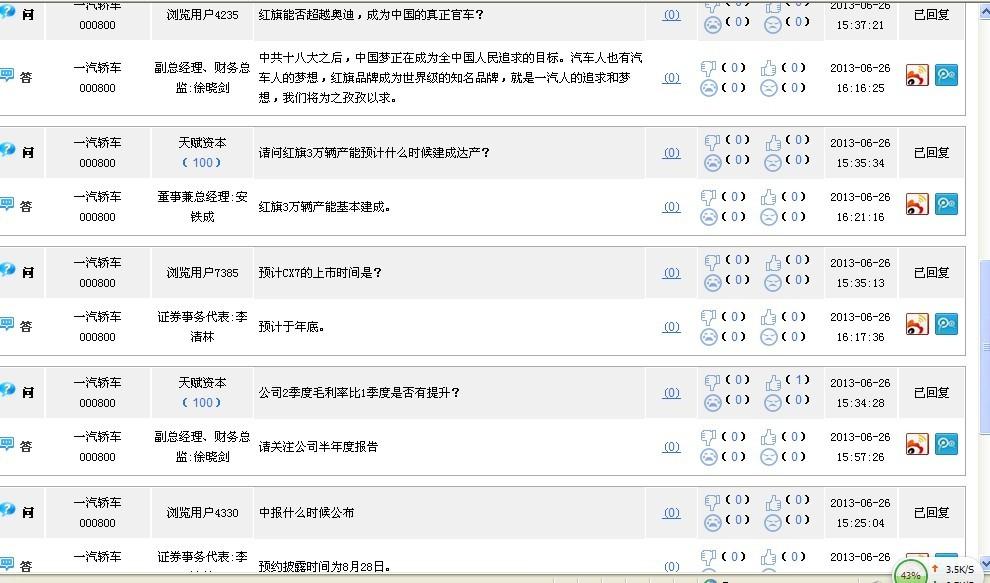 000800中国梦_一汽轿车(000800