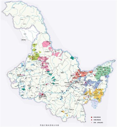 黑龙江农垦的地图.