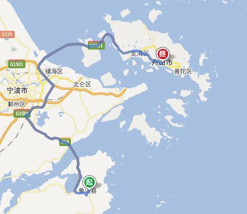 看地图 龙元与舟山