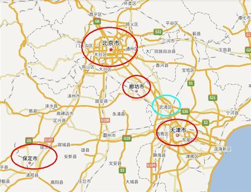 天津武清区与廊坊地理位置一致,受益京津冀一体化!