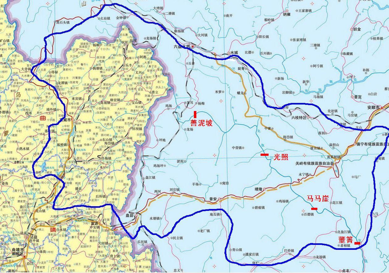 最新制作黔源电力北盘江流域有效集水面积图