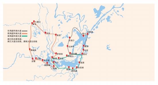 洞庭湖环湖高速公路网规划图