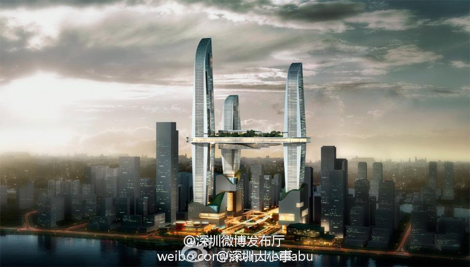 深圳官方微博最新发布前海规划效果图