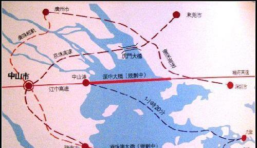 东筹建深圳中山跨海大桥 与港珠澳大桥平行