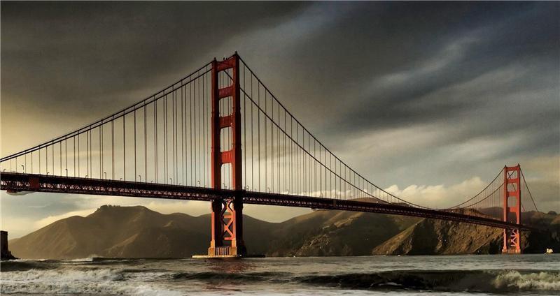 世界上最著名的吊索桥——金门大桥