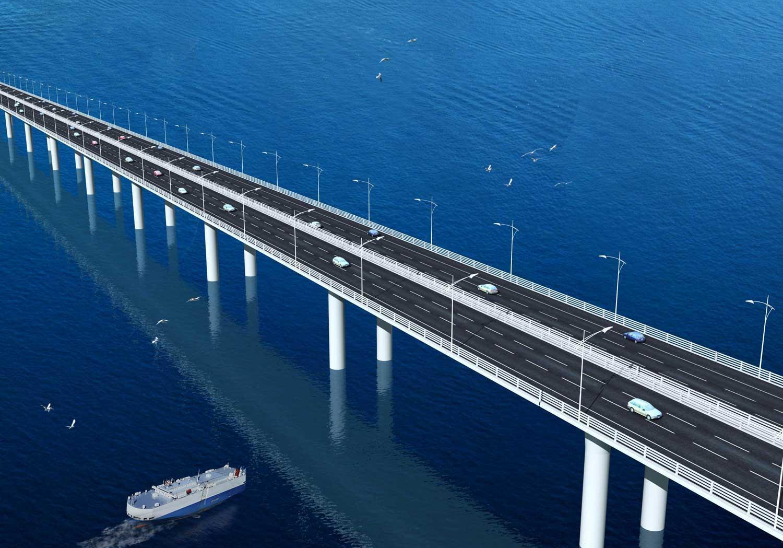 仃洋上的港珠澳大桥