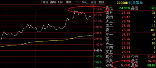 今日最高大涨 百分七_创业黑马(300688)股吧_