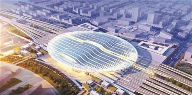 中国二冶中标雄安高铁站(二标段)钢结构工程